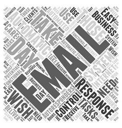 Email autoresponders word cloud concept vector