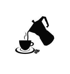 Filter coffee in black vector