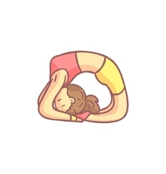 Girl Doing Dove Yoga Pose vector image vector image