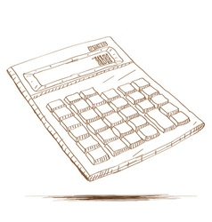 Hand drawn calculator vector image
