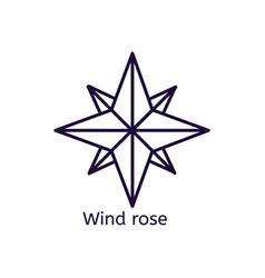 Icon of wind rose on a white background vector