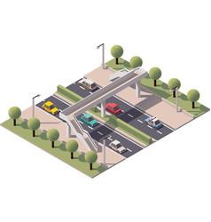 isometric pedestrian bridge vector image vector image