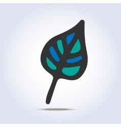 Leaf icon hand drawn vector