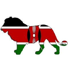 Lion kenya vector