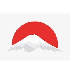 Logo design element mountain japan nature vector