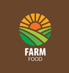 logo farm food vector image vector image