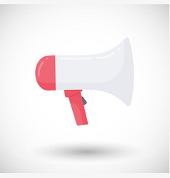 megaphone flat icon vector image