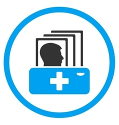 Patient catalog rounded icon vector