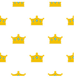 Prince crown pattern flat vector