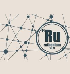 ruthenium chemical element vector image