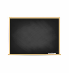 school blackboard dirty black chalkboard with vector image