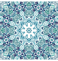 Seamless watercolor doodle decorative pattern vector image vector image