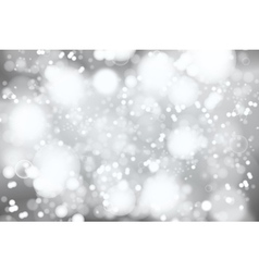 Silver bokeh background abstract defocused bright vector