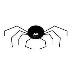 spider the black color icon vector image vector image