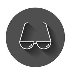 Sunglass icon eyewear flat with long shadow vector