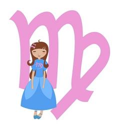 virgo zodiac symbol vector image