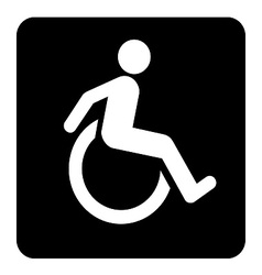 Wheel chair moving sign vector
