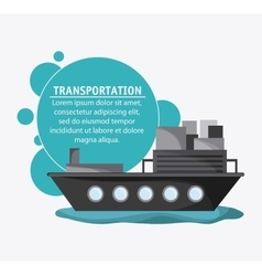 Ship transportation vehicle travel vector