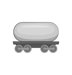Railroad tank wagon icon black monochrome style vector