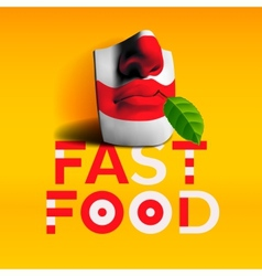 Word fast food background vector image