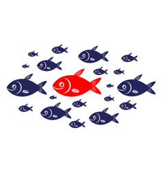 Target audience red fish concept vector