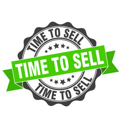 Time to sell stamp sign seal vector