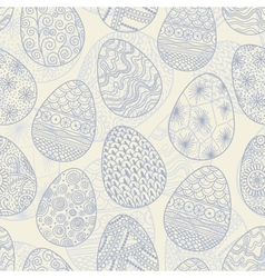 Seamless background with Easter eggs vector image