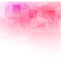 Crystal structure abstract square background vector image