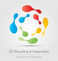 Recycling and separation business icon vector
