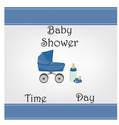 Postcard baby shower for baby boy vector