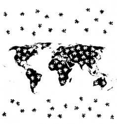 world jigsaw vector image