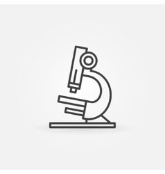 Microscope icon or logo vector