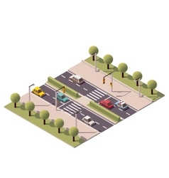 Isometric pedestrian crossing vector