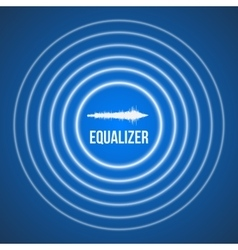 Pulse music equalizer background audio vector