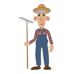 Farmer cartoon icon vector image