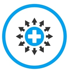 Pharmacy distribution rounded icon vector
