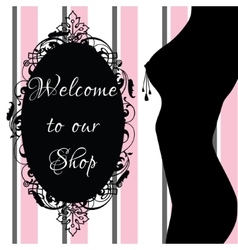 Erotic shop banner vector