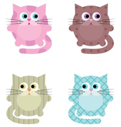 Cartoon cats vector