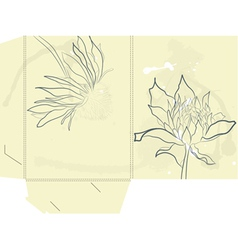 Template for folder vector