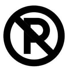 No parking symbol vector