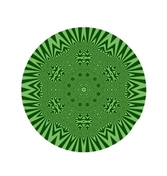 Ornamental green round pattern vector