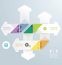 Arrow modern design minimal style infographic vector