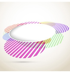 Bright circular design element - retro vector