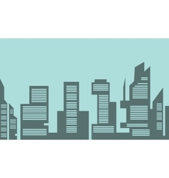 Building industry flat of silhouette vector