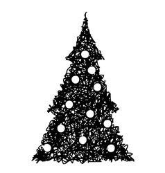 Christmas tree 2 vector image vector image