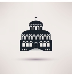 Church building a religious symbol icon vector image