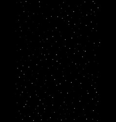 Clusters of star in the dark sky black vector