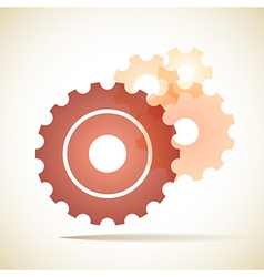cogs gears background vector image