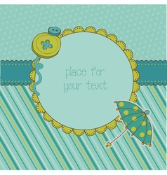 cute photo frame vector image