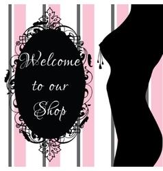 Erotic shop banner vector